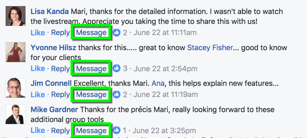 Facebook allows you to respond to these messages privately already. Check out our blog post to learn how to set up auto comment for fb