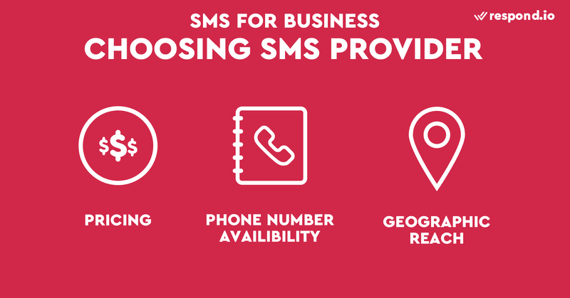 This is a picture showing the criteria used to evaluate different SMS providers. Many SMS providers out there provide similar services, making it difficult to know which one to choose. There's no definitive answer, but in general you should pick SMS provider based on its pricing, features, and quality of support and documentation. If you are wondering how much does it cost to send sms as a business, how much does it cost to send sms as a business, or how much should i pay for business sms service, read our blog on SMS business to find out.