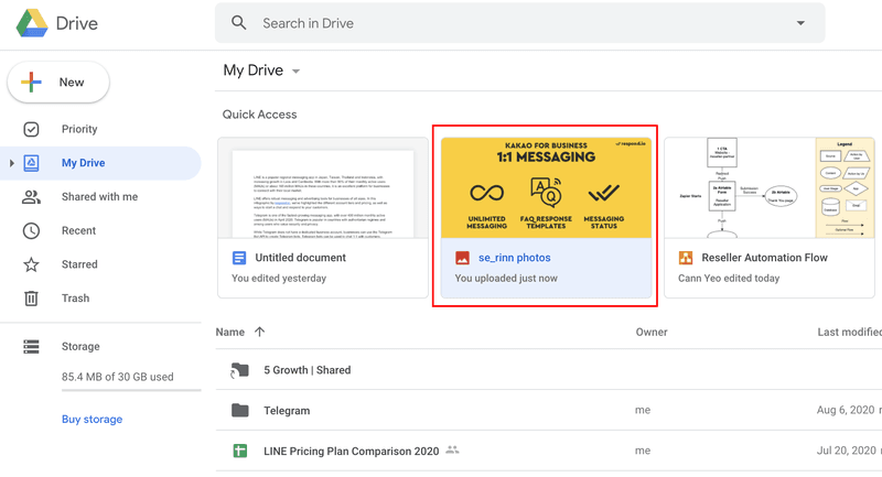 View the uploaded file on Google Drive. And done.