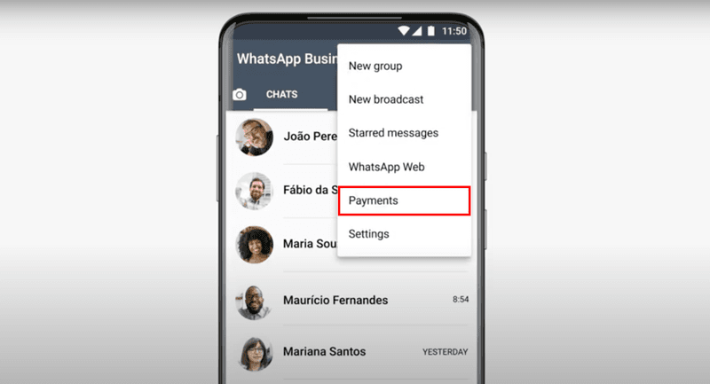 Set up WhatsApp Payment in Brazil on the WhatsApp Business App.