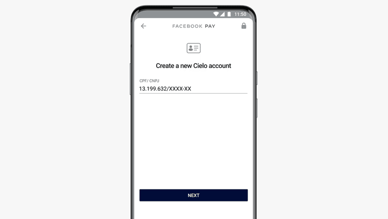 This image shows how to create a new Cielo account for WhatsApp Pay