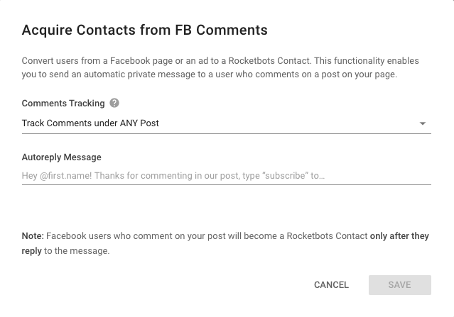 Respond to Facebook Comments Automatically