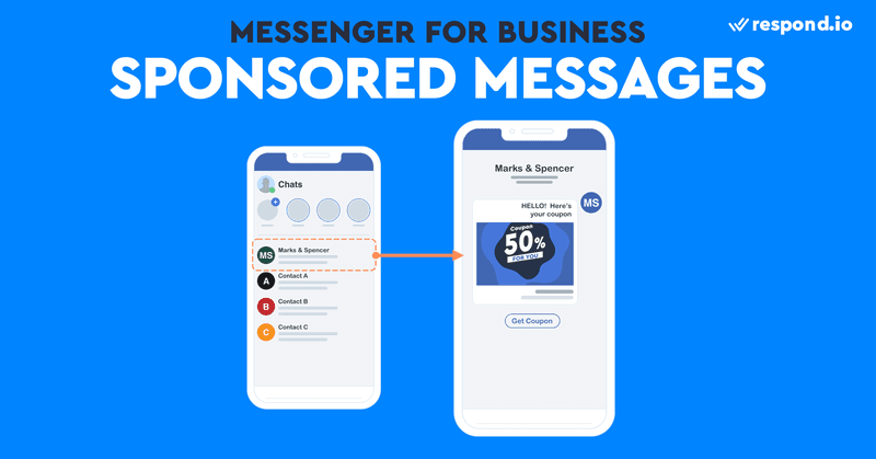 This is an image of the screenshots of Facebook Sponsored Messages. Wondering how do I send a broadcast message on Facebook Messenger? Consider Sponsored Messages. What are Sponsored Messages on Facebook? Sponsored Messages are a type of paid ads that allow businesses to send highly targeted broadcasts. They are sent directly as a message to the customers with an existing Messenger conversation. Facebook sponsored messages cost varies depending on your budget and schedule. Read our blog post to find out how can you do sponsored Facebook Messages.