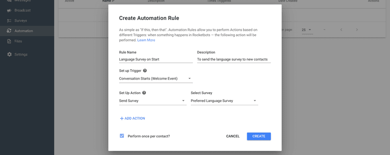 Create A Rule To Launch The Survey