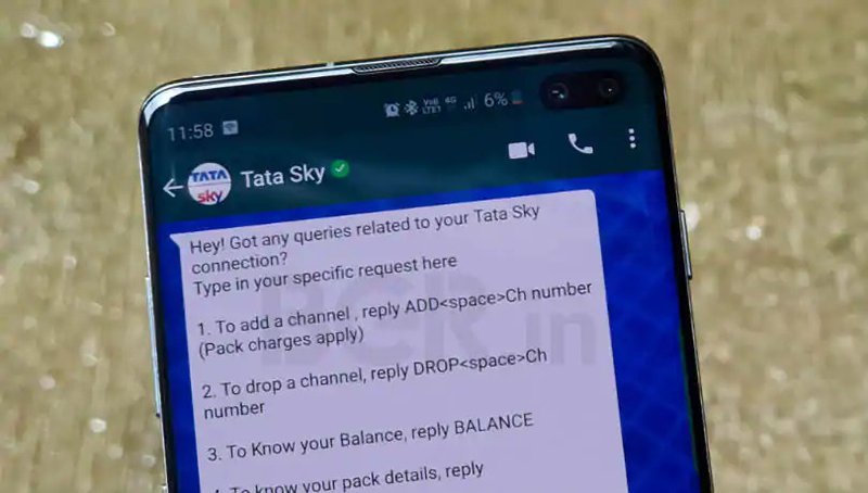 Tata Sky is a Direct Broadcast Satellite provider in India. Users subscribe to their services to watch the Premier League and other channels. With WhatsApp being the most popular messaging app in India by far, allowing their customers to change account settings over WhatsApp was a no brainer.