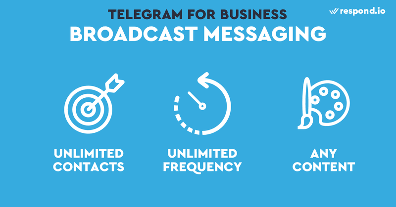 Broadcast messaging is a great way to use Telegram for business because there are not limitations.