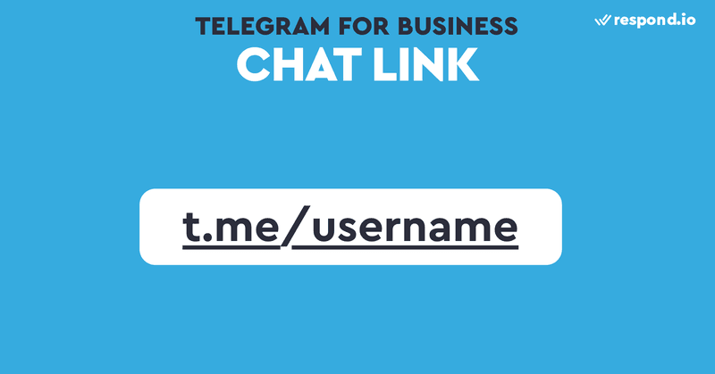Every Telegram Bot comes with a Chat Link using the t.me/username format. So it's important that your bot username reflects your brand.