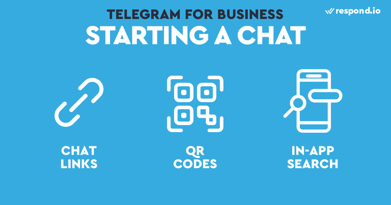 Use Chat Links, QR Codes or in app search to get users to start a chat with your business account.