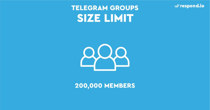 This is an image showing telegram Group limit. Telegram Group Chat does have one specific benefit over WhatsApp groups though - Telegram Group limit is 200,000 people. We've never participated in a group this size, but we imagine it is quite the experience.