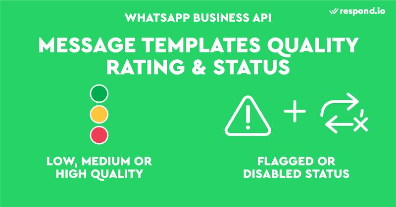 WhatsApp calificará la calidad de tus Mensajes de Plantilla como baja, media o alta. Los mensajes de plantilla de baja calidad se marcarán o desactivarán.