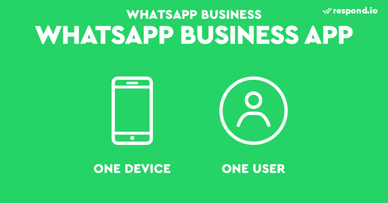 WhatsApp Business App was intended for one device and one user.