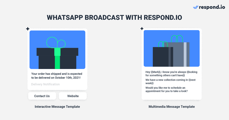 Broadcasting is as simple as selecting the Contacts who have opted-in to hear from you, creating your message's content with media and adding a Call-to-Action or Quick Reply Button. Once you're done, simply send or schedule a broadcast in advance.
