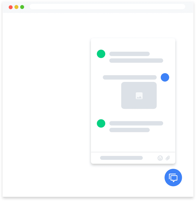 The Rocketbots Web Chat allows you to add a livechat to your website.