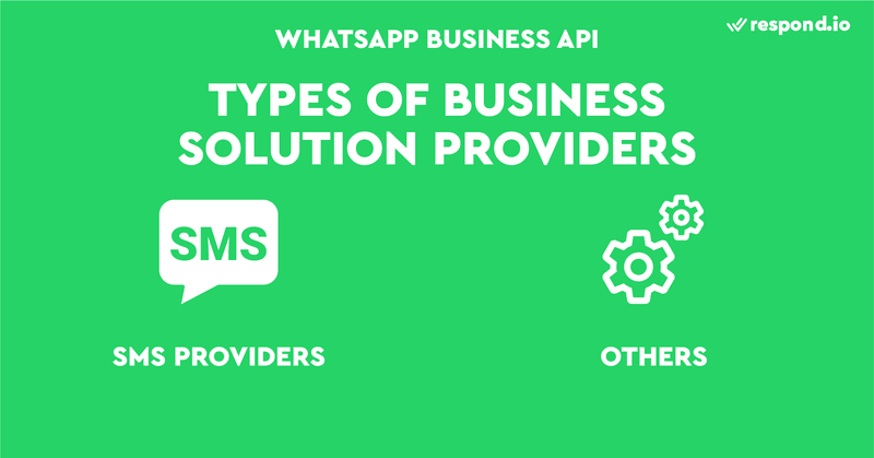 The two types of Business Solution Providers are SMS Providers and others