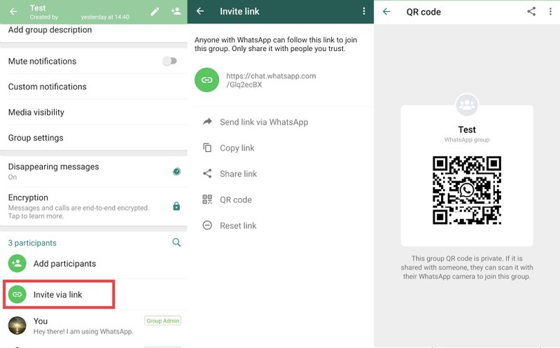This is an image showing How to Join WhatsApp Group With a WhatsApp Group Link & WhatsApp QR Code
