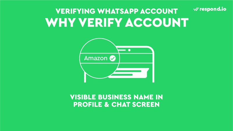 This is a picture showing that verified accounts will have visible business name in the profile and chat screen