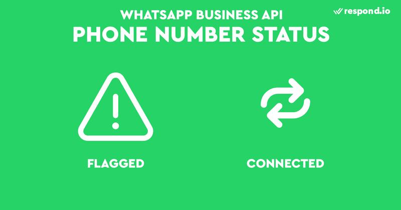 Tu número de teléfono pasará a un estado marcado cuando el índice de calidad de tu número sea bajo (rojo). Una vez que mejore a media o alta en 7 días, el estado de tu número de teléfono volverá a ser Conectado.