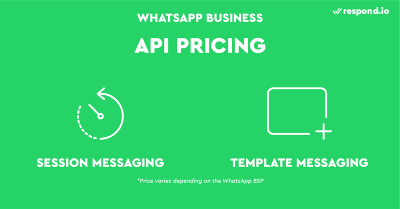 WhatsApp API is charged according to the number of Session Messages and Template Messages.