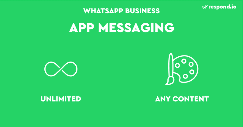 Messaging with the app is unlimited and any type of content is allowed.
