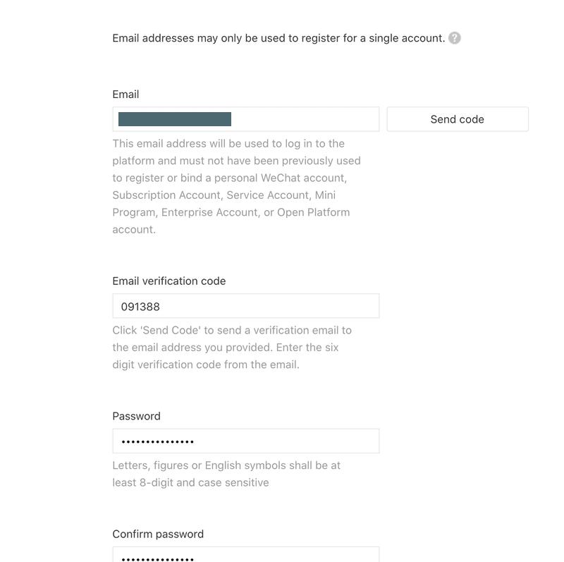 Esta es una imagen del formulario de registro. Debe crear una cuenta de usuario. Proporcione un correo electrónico que utilizará para iniciar sesión en el panel de administración.