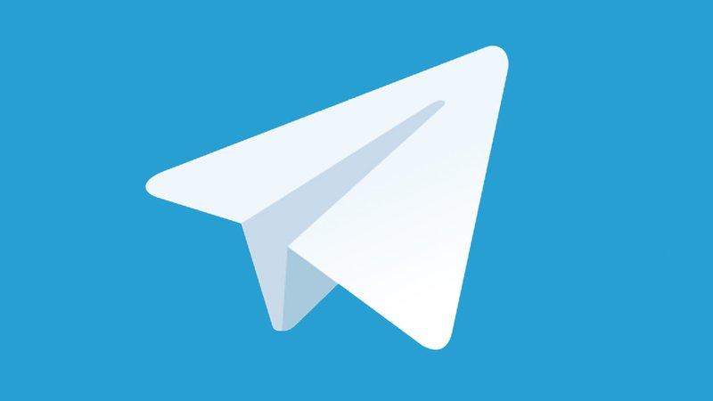 This image contains a telegram logo.