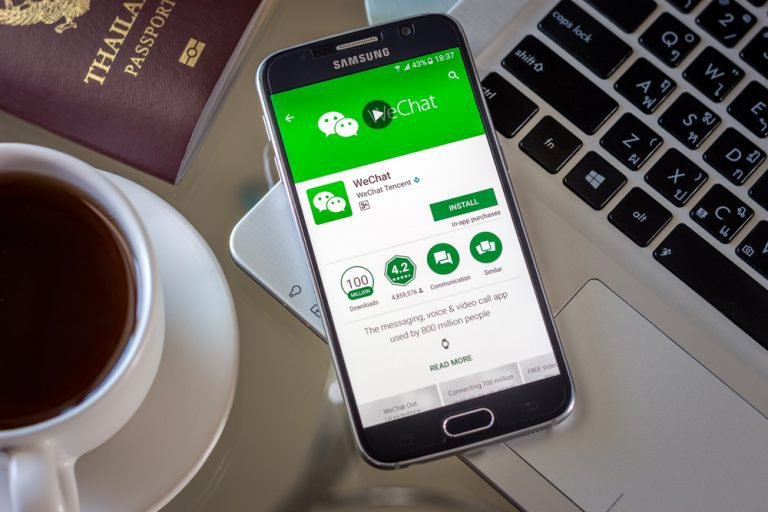 Wechat Work, It can be used for instant messaging for business.