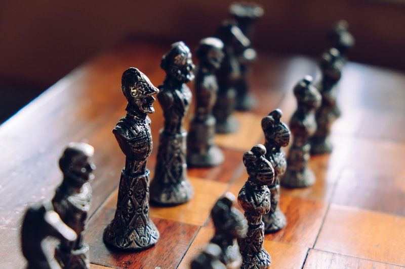 Vintage chess pieces