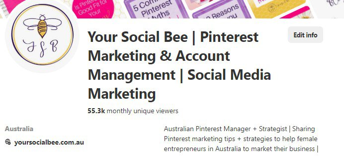 Your Social Bee Pinterest Profile
