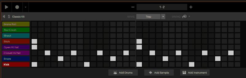 base hip hop drum pattern