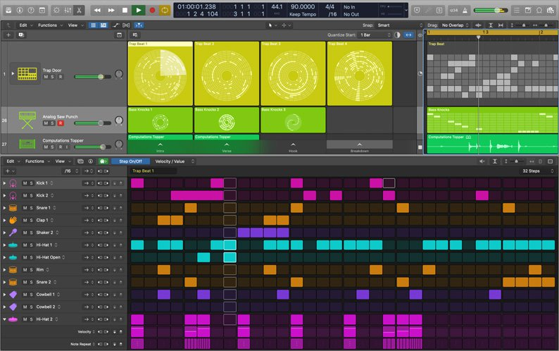 Apple Logic Pro X Updaed Recently With A Step Sequencer