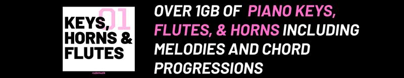 Keys, Flutes, and Horns Sample Pack Cover Image