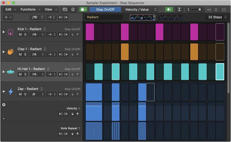 Apple Logic Pro Step Sequencer