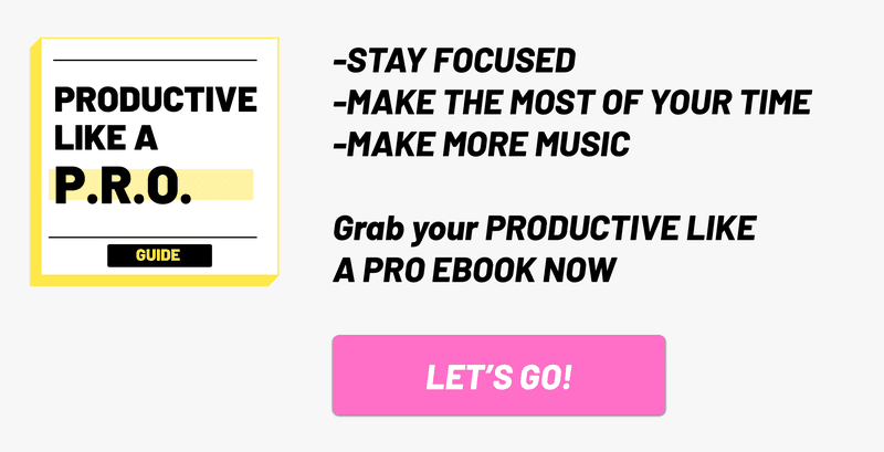 Music Producer Productive Like A PRO Ebook