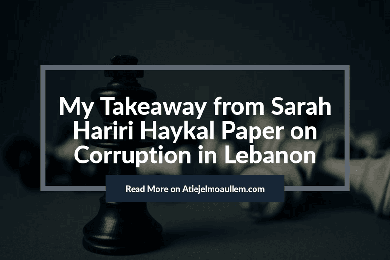 Corruption in Lebanon