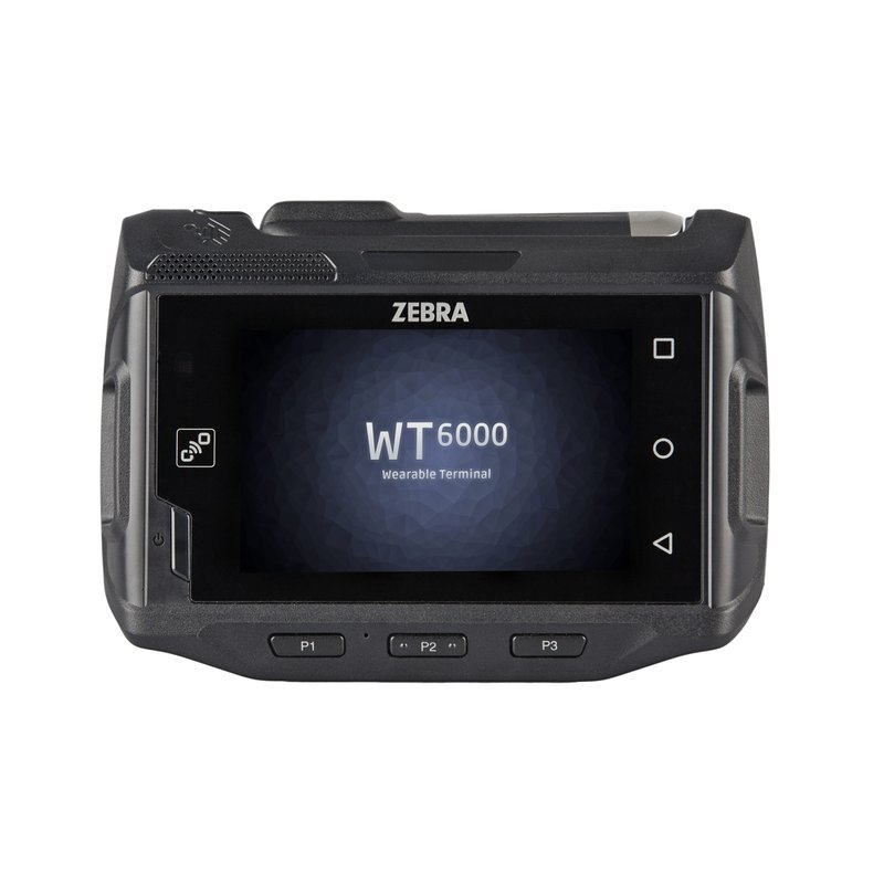 A Zebra WT6000 wearable device: a small, rugged computer.