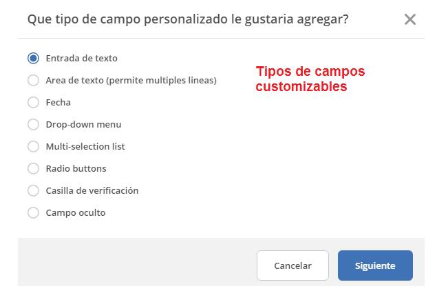 Campos Personalizados ActiveCampaign