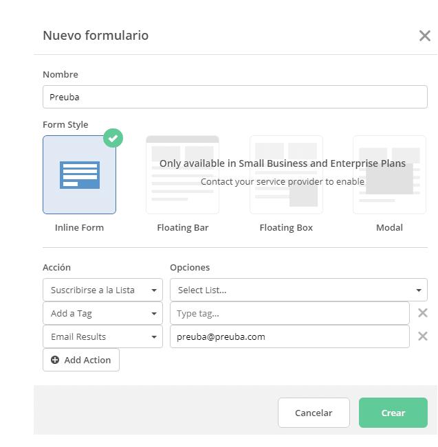 Formularios con ActiveCampaign