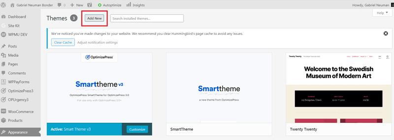 Instalando Nuevo Tema en WordPress