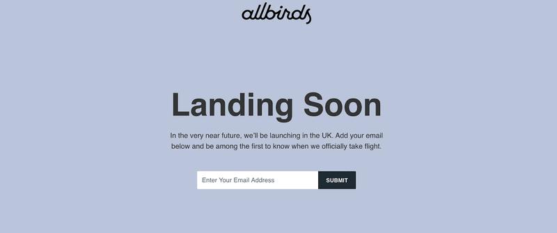 Lanzamiento Allbirds
