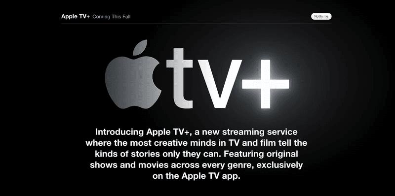Lanzamiento Apple TV+ MVP