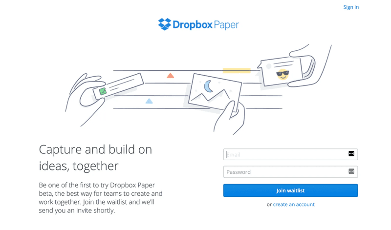 Lanzamiento Dropbox Paper