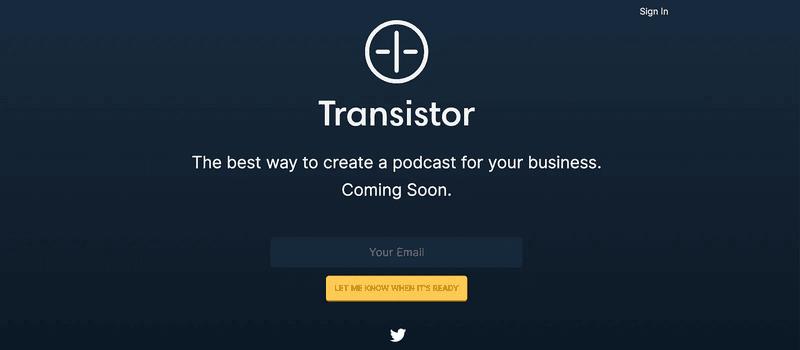Lanzamiento Transistor