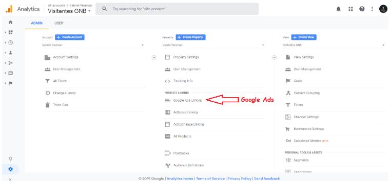 Liga tu cuenta de Google Ads con Google Analytics