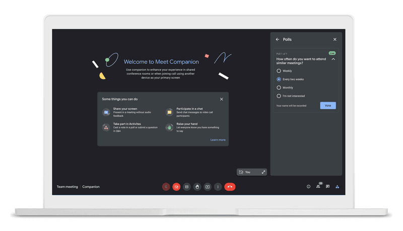 Google Workspace: Meet Companion in Google Meet