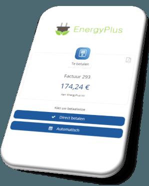 Twikey betaaluitnodiging leidt naar een betaalpagina waar verschillende betaalmogelijkheden aangeboden kunnen worden