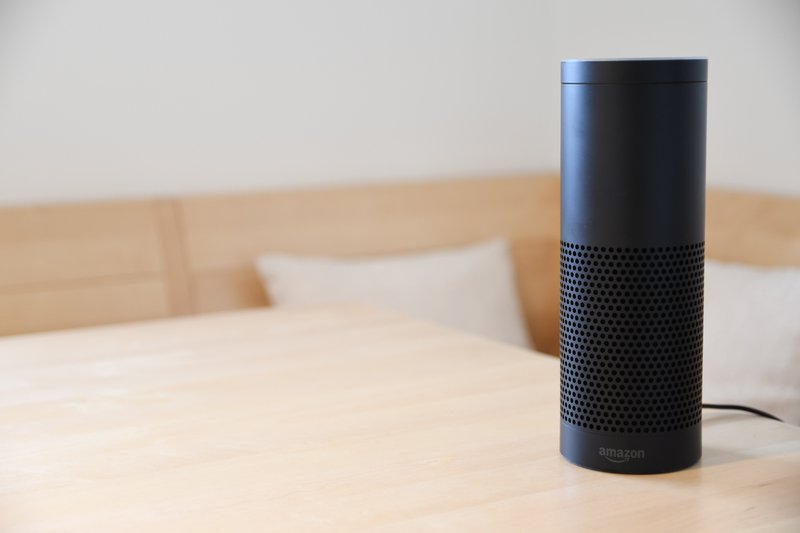 Amazon Alexa speaker on a table