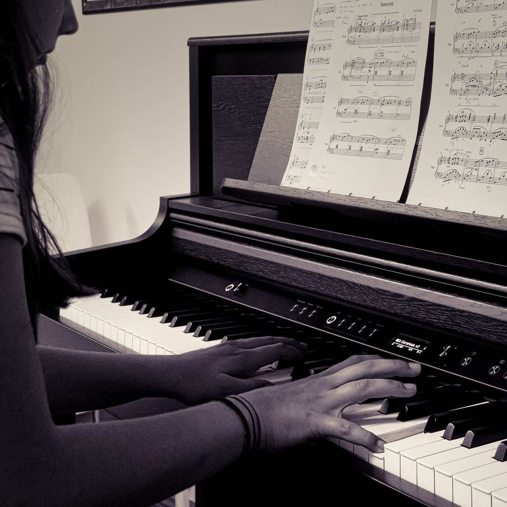 Student performing in one of our Concerts.