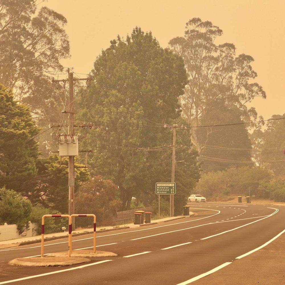 2019 Bushfires - Hawkesbury Rd, Springwood.