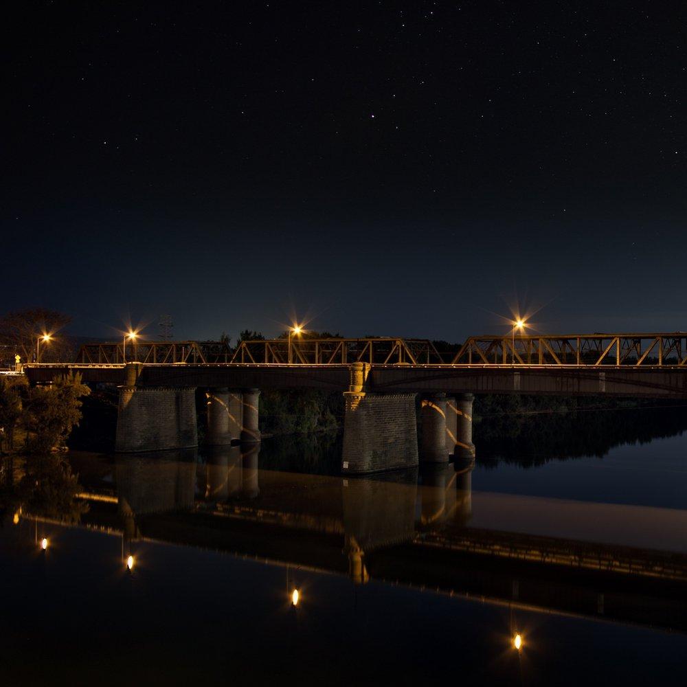 Stacked night photography experiment, Victoria Bridge, Penrith NSW.