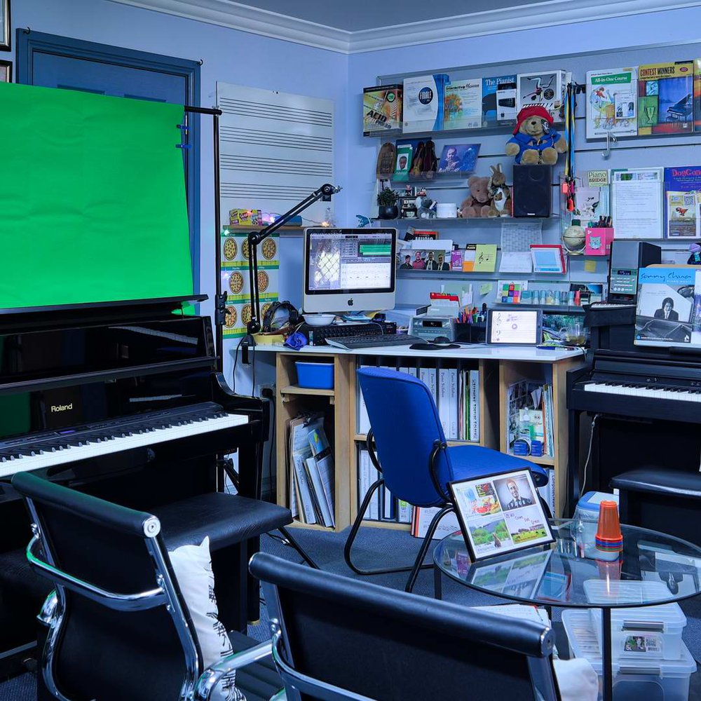 """BMPS Teaching BMPS Teaching Studio - ready for HSC recordings with """"Green Screen"""".Studio"""